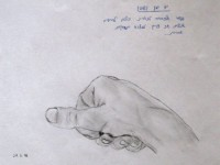 A hand I drew during my university time