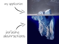 The abstractions are an iceberg